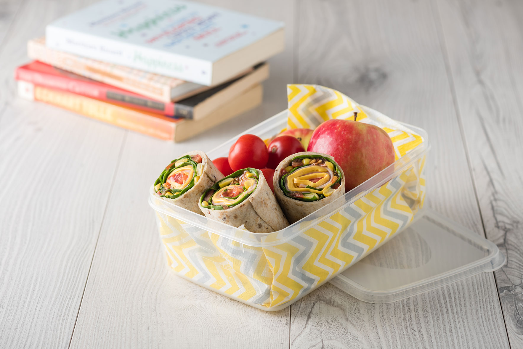 Sipipa - Ham and cheese wraps in lunch box